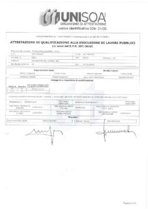 Certificato Soa Microtunnelling OS35